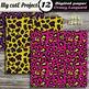 Bright Animal Prints DIGITAL PAPERS - Leopard prints, safa