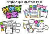 Bright Apple Chevron Classroom Pack