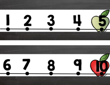 Bright Apple Classroom number line to 120