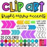 Bright Arrow Accents Clip Art / Set of 42 Images