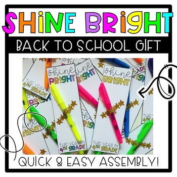 FREE Bright Back to School Gift - Easy Set-Up - Grades K-6