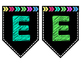 Bright Banner Letters - Every Letter and Symbols