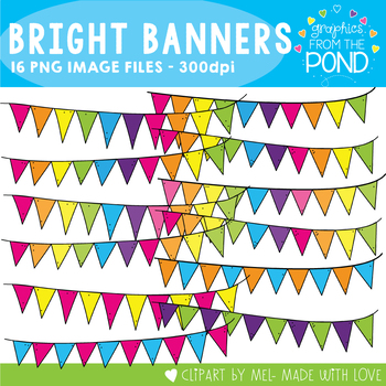 Bright Banners - Clipart for Teachers