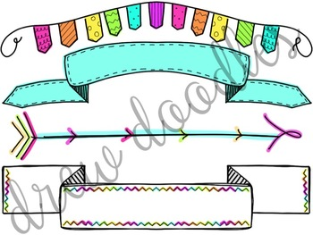 Bright Banners Digital Clip Art Set