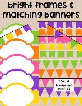 Bright Banners/Bunting and Frames - Seller toolkit  - 17 pieces