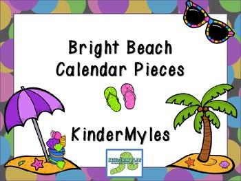 Bright Beach June Summer Calendar Pieces Plus