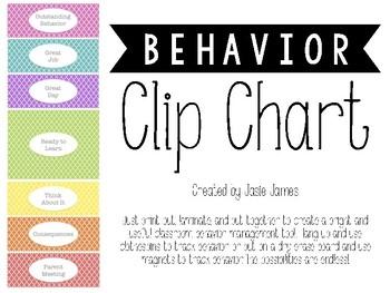 Bright Behavior Clip Chart