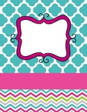 Bright Binder Covers (editable)