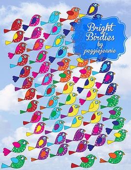 Bright Birdie Clipart by peggiejeanie