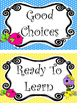 Bright Birdies themed Printable Behavior Clip Chart. Classroom Behavior Manageme