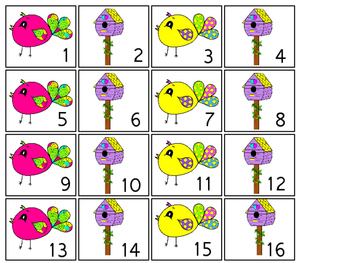 Bright Birdies themed Printable Calendar Pieces Classroom Bulletin Board Set.