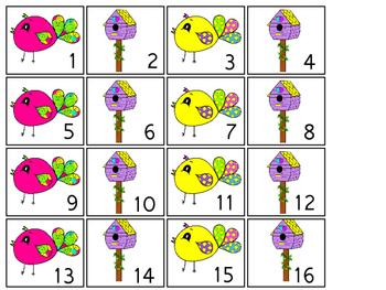 Bright Birdies themed Printable Calendar Pieces Classroom