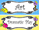 Bright Birdies themed Printable Classroom Center Signs. Class Accessories.