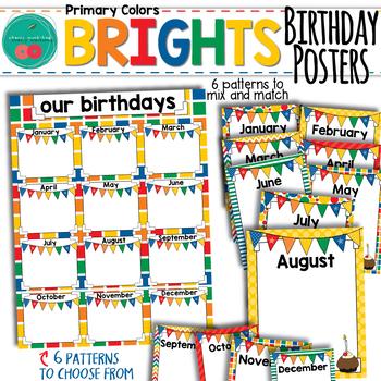 Bright Birthday Posters