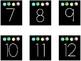 Bright & Black Calendar Cards (SMALL)