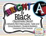 Bright & Black Classroom Decor Mini-Pack!