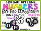 Bright & Black Number Labels for the Classroom