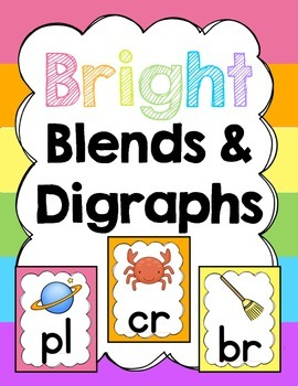 Classroom Posters (Bright): Blends and Digraphs