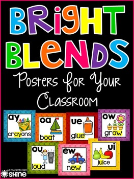 Classroom Decor - Bright Blends Posters