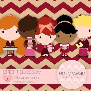 Bright Blossom - Little Readers Clip Art