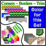 Bright Blue Borders Trim Corners *Create Your Own Dream Classroom/Daycare*