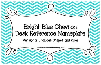 Bright Blue Chevron Desk Reference Nameplates Version 2
