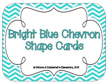 Bright Blue Chevron Shape Cards