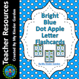 Blue Dot Apple Alphabet Letter Flash Cards