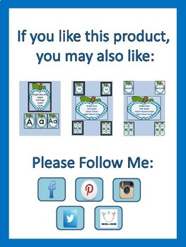 Bright Blue Dot Apple Dolch First Grade Sight Word Flashcards and Posters