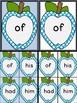 Bright Blue Dot Apple Dolch First Grade Sight Word Flashca