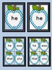 Bright Blue Dot Apple  Dolch Primer Sight Word Flashcards and Posters