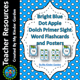 Blue Dot Apple Dolch Sight Word Flash Cards Primer High Frequency Words