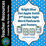Blue Dot Apple Dolch Sight Word Flash Cards and Posters Second Grade Words