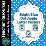 Blue Dot Apple Alphabet Letter Posters / Word Wall Headers Full Page