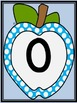 Bright Blue Dot Apple Full Page Number Posters 0-100