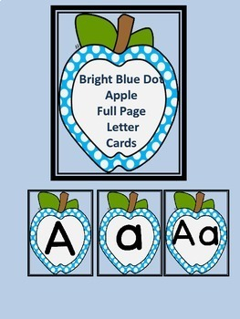 Bright Blue Dot Apple Letter Flashcards and Posters Bundle