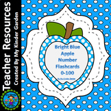 Blue Dot Apple Number Flash Cards Math Numbers 0-100