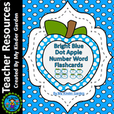 Blue Dot Apple Number Word Flash Cards Math Numbers Zero To One Hundred