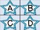 Bright Blue Dot Star Alphabet Letter Flashcards