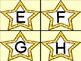 Golden Yellow Dot Star Alphabet Letter Flashcards
