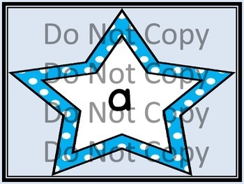 Bright Blue Dot Star Dolch PrePrimer-3rd Grade Sight Word Flashcards & Posters