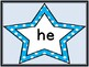 Bright Blue Dot Star  Dolch Primer Sight Word Flashcards a