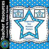 Blue Dot Star Number Posters Math Full Page Numbers 0-100