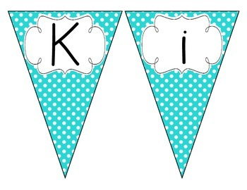 Bright Blue Polka Dot Welcome Pennant