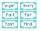 Bright Blue Polka Dot Word Wall Cards