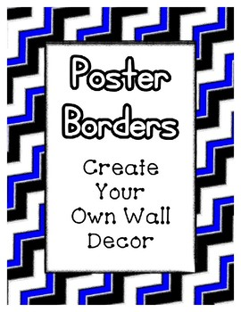 Bright Blue Poster Frames * Create Your Own Dream Classroom / Daycare *