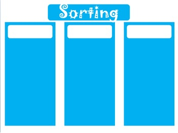 Bright Blue Sorting Backgrounds Freebie!