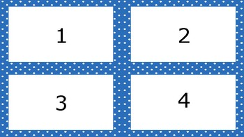 Bright Blue Spotty Times Tables Flash Cards Answers