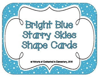 Bright Blue Starry Skies Shape Cards