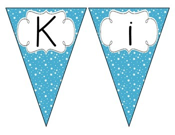 Bright Blue Starry Skies Welcome Pennant